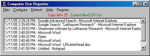 Click to view Computer Use Reporter 3.1.0 screenshot
