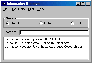 Click to view Information Retriever 2.0.0 screenshot