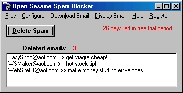 Open Sesame Spam Blocker screen shot